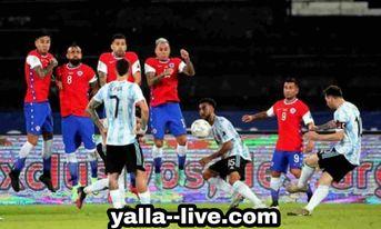 الارجنتين تتعادل بهد لمثله مع تشيلي في أولى مبارياتها في كوبا امريكا