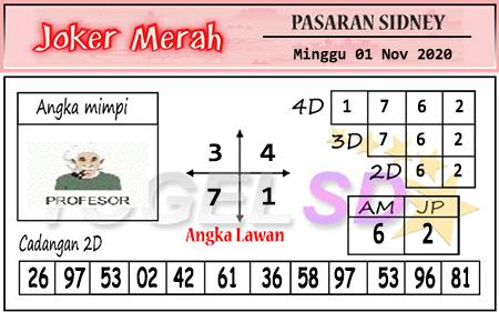 Pred Joker Merah Sdy Minggu 01 November 2020
