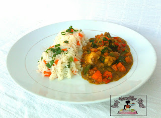 Vegetable Rice and Chicken Curry Recipe
