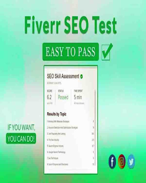 SEO Skill Assessment Fiverr Test Answers 2021 || Fiverr Seo Skill Test Question Answer 2021