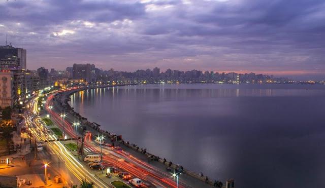 صور ملتقطة لشاطئ مدينة الإسكندرية