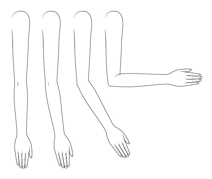Gambar lengan anime membungkuk