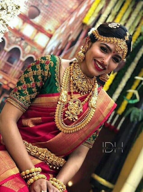 Bride in Huge Traditional jewellery