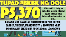 """Tulong Panghanapbuhay sa Ating Displaced/Disadvantaged Workers Program #Barangay Ko, Bahay Ko (TUPAD #BKBK) Disinfecting/Sanitation Project that aims to """"cushion/mitigate the impacts of the #COVID19 to the livelihoods/business and worker sector"""