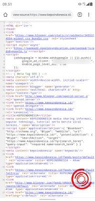 3. Jika berhasil maka akan muncul semua kode sumber dari blog ini