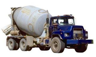 campuran beton, truck mixer