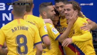 اهداف مباراة برشلونة وايبار (3-0) الدوري الاسباني
