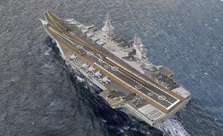 Ilustrasi Kapal Induk Shtorm Rusia
