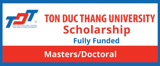 منحة الدراسات العليا بجامعة تون دوك ثانج -فيتنام ممولة بالكامل