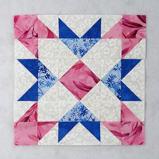 Broken Window Quilt Block designed by Elaine Huff of Fabric406