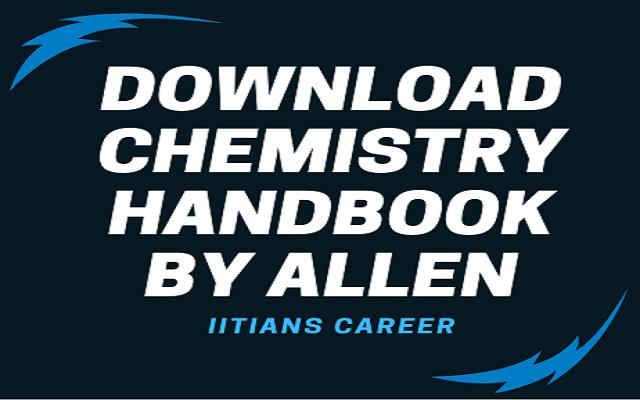 ALLEN CHEMISTRY HANDBOOK
