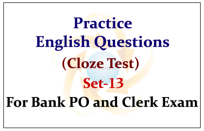 Practice English Questions (Cloze Test)