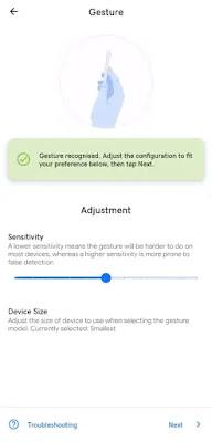 Screenshot di Android dengan Mengetuk Bagian Belakang HP