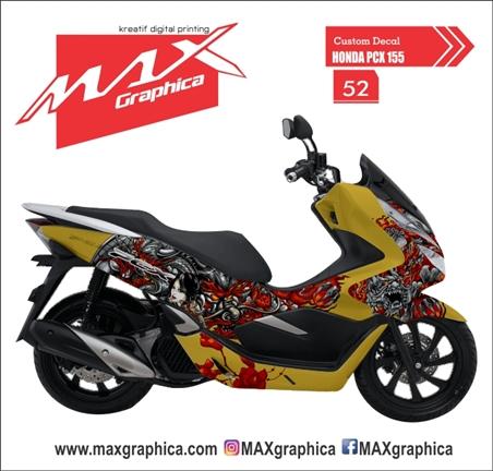 sticker decal honda PCX tema NAGA custom desain suka suka