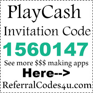 Play Cash Invitation Code 2017, Play Cash Reviews, Play Cash Referral Code 2017