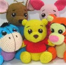 Winnie the Pooh y sus amigos a Crochet