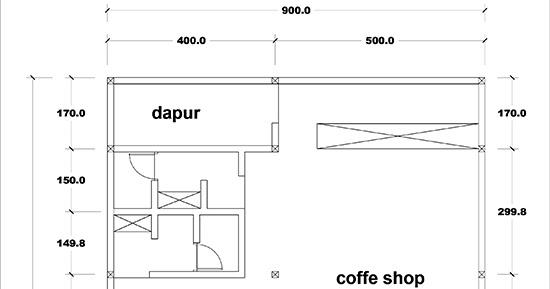 Denah 3 lantai desain kantor modern minimalis dengan