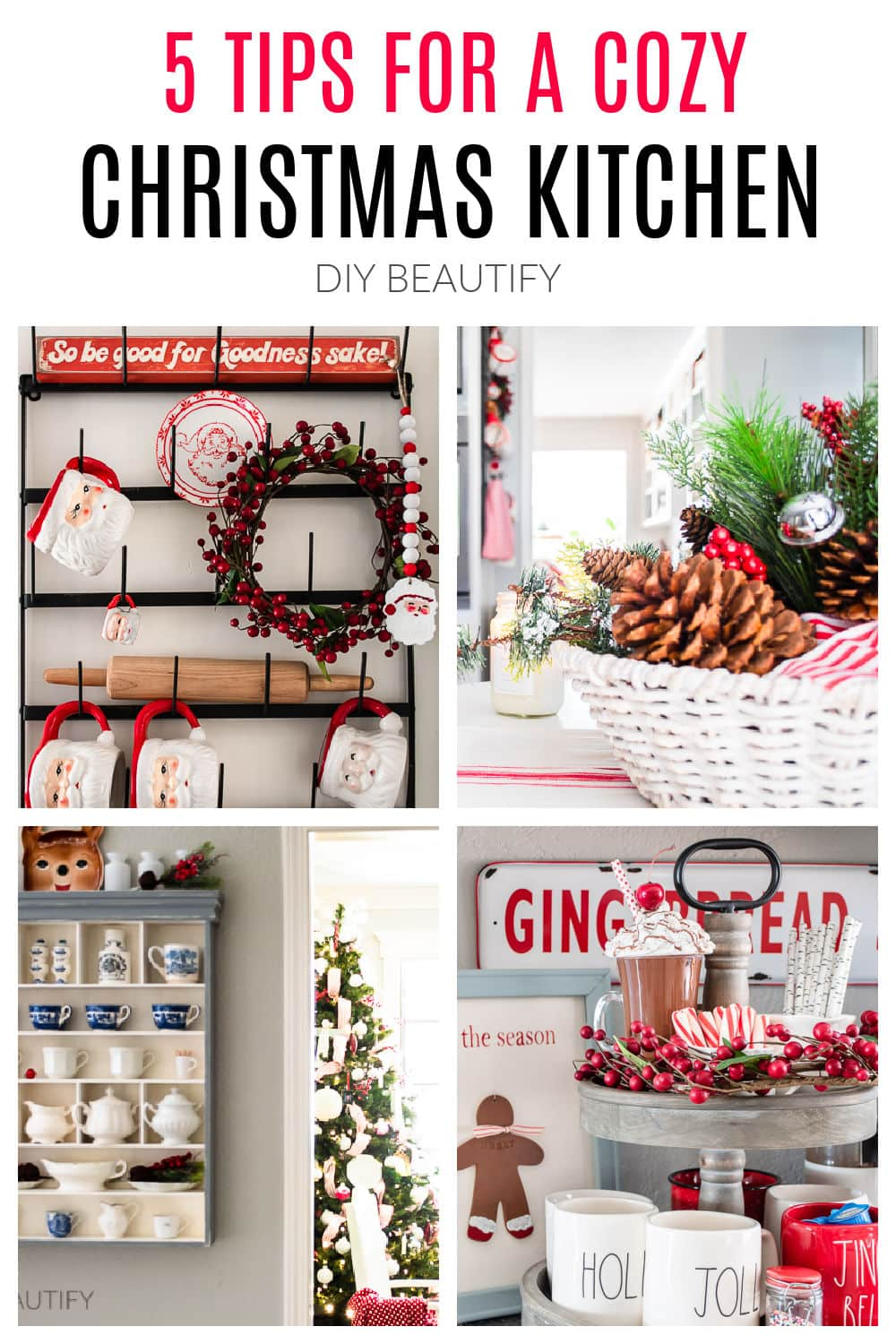 5 tips to a cozy Christmas kitchen by DIY Beautify