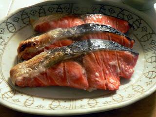 酒の肴 焼き魚 鮭焼き