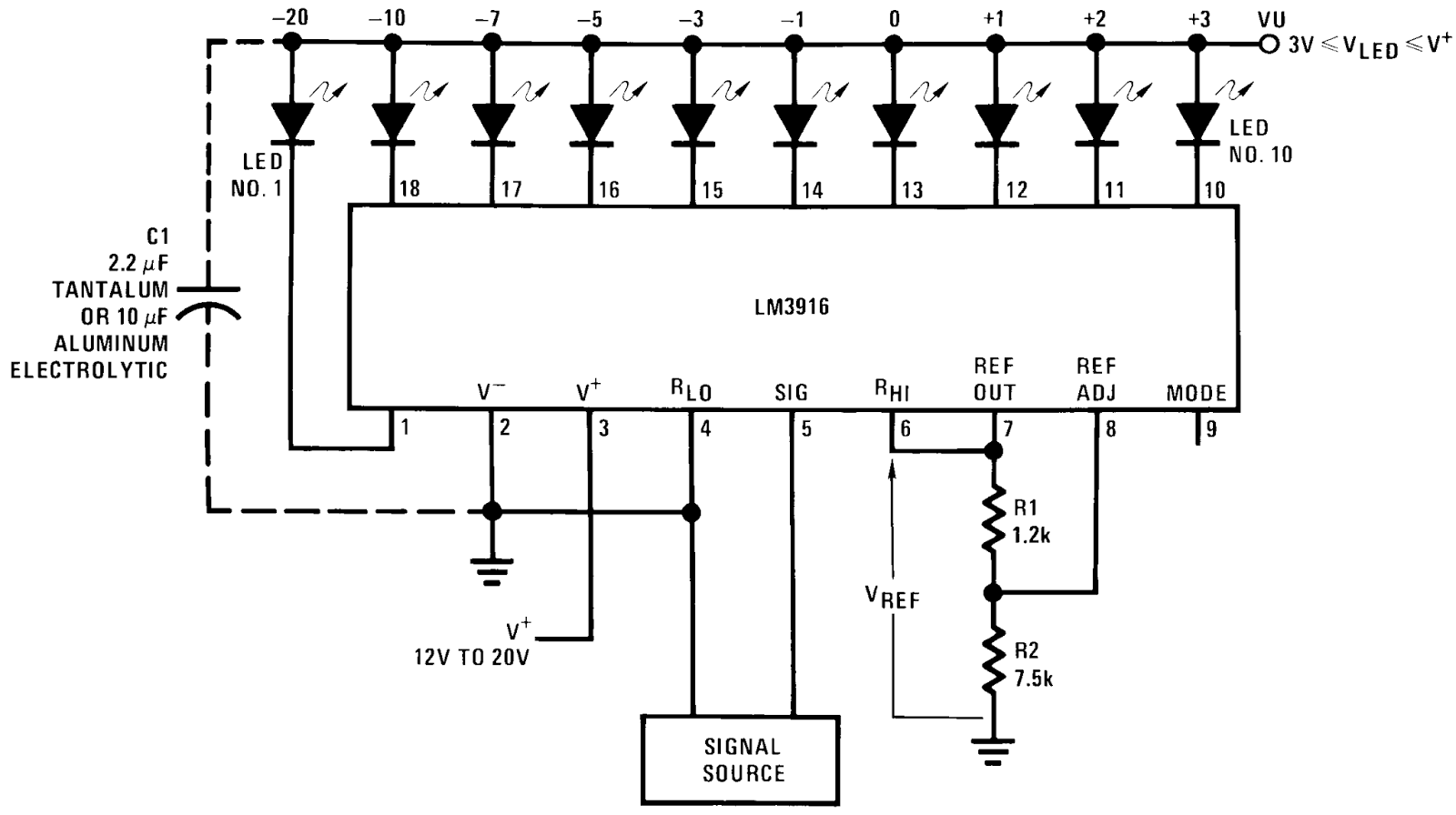 Eletronicaled Vu Meter