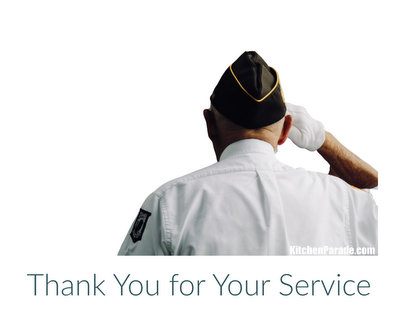 Thank You for Your Service ♥ KitchenParade.com, expressing gratitute to all on the frontline of the coronavirus pandemic