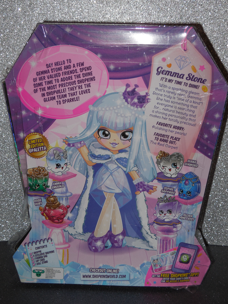 Shopkins Shoppies Gemma Stone Limited Edition Opaletta New