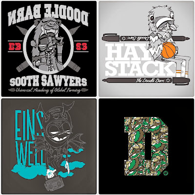 "Dez Einswell Fall 2014 Select T-Shirt Collection - ""SoothSawyers"", ""Haystacks"", ""Einswell Beat Box"" & ""Doodle Pocket D"" T-Shirts"