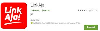 Aplikasi LinkAja yang digunakan untuk pembayaran tiket kereta api Prameks secara online