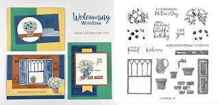 Stampin' Up! Welcoming Window Card Kit  ~ January-June 2021 Mini Catalog ~ Stamp of the Month Club Card Kit ~ www.juliedavison.com