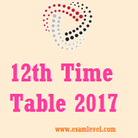 JAC Time Table 2017