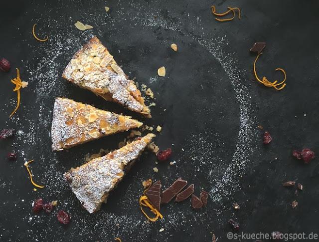 Cranberry-Schokoladenkuchen mit Orange