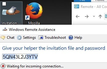 Invitation File Windows Remote Assistance