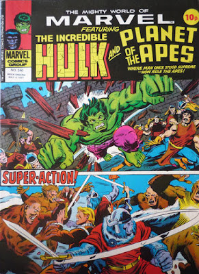 Mighty World of Marvel #240, Hulk and Planet of the Apes