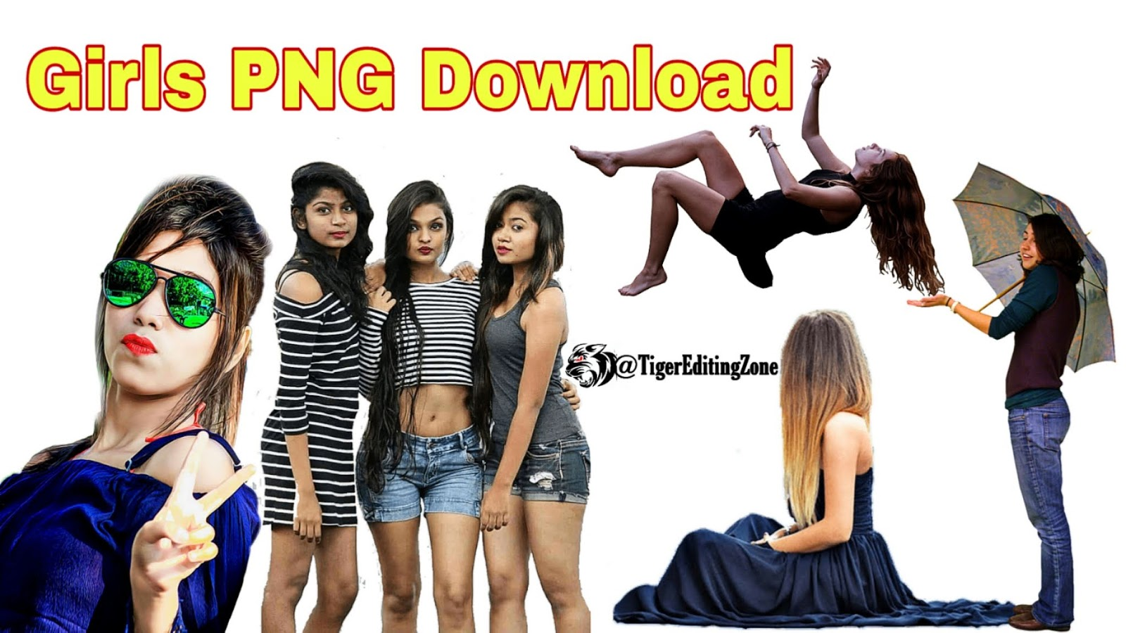 30+ Girls PNG Download for Editing in PicsArt and Photoshop