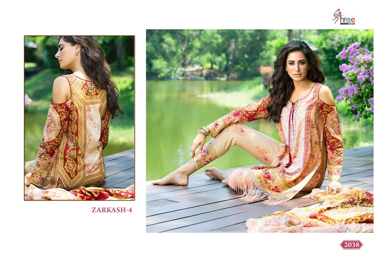 Zarkash vol 4-Cotton printed multi color Dress Material