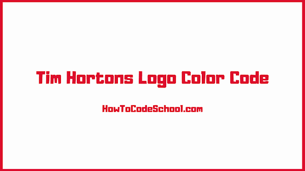 Tim Hortons Logo Color Code