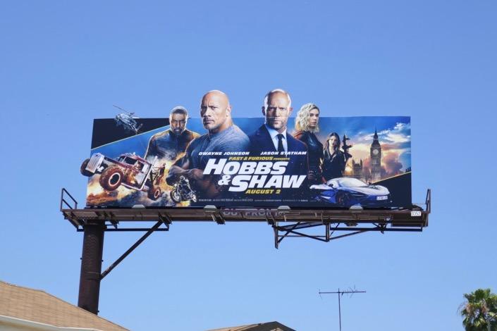 Hobbs Shaw extension billboard