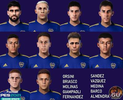 PES 2021 Facepack Boca Juniors 2021 by Grdumbanda