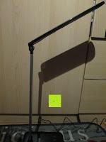 etwas nach oben: CRECO 7W LED Tischlampe 5 Helligkeitsstufen 3 Modi dimmbar 270° drehbar Schreibtischlampe Schwarz [Energieklasse A+]