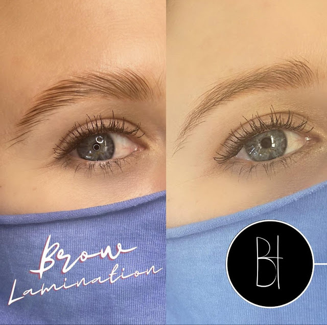 Brow Lamination | Before and After