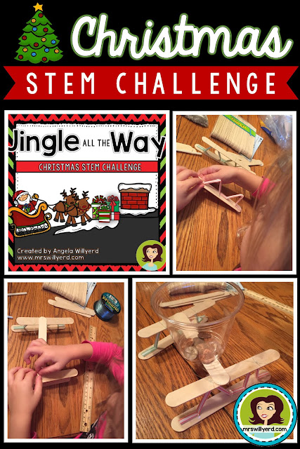 Christmas STEM Challenge: Students make a new sleigh for Santa for middle school grades 5-8 and upper elementary grades 3-5.