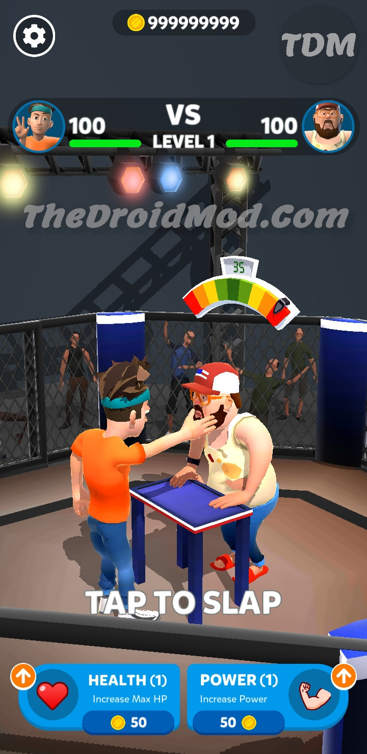 Download Slap Kings Mod Apk Unlimited Coins Ad-Free God Mode Ad-Free One Hit Kill Unlimited Health Slap Power Free Shopping Mega Mod APK For Android thedroidmod.com