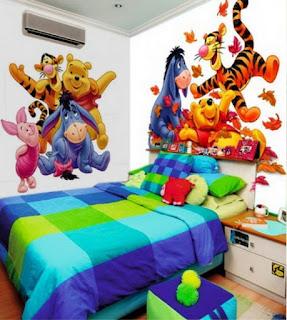 Gambar Wallpaper Dinding Winnie the Pooh Terbaru dan Lucu 200166