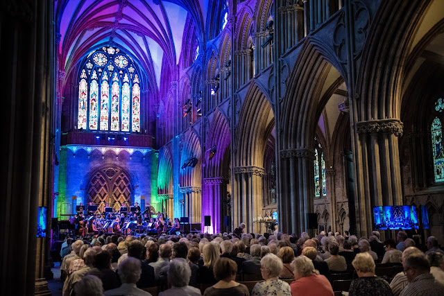 Lichfield Cathedral during the 2017 Lichfield Festival (Photo Redlock Photography)