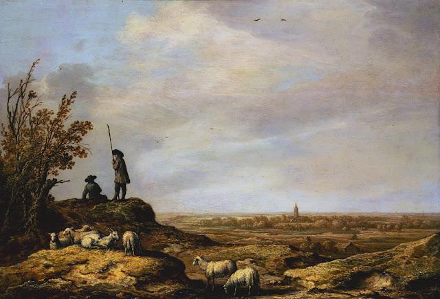 Альберт Кёйп - Панорамный пейзаж с видом на Бевервейк. 1641-44
