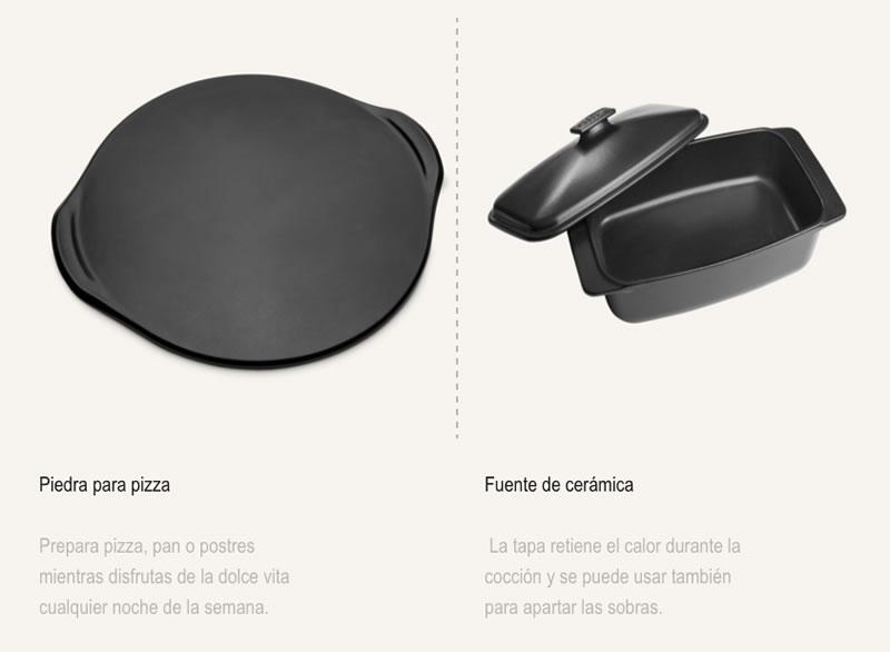 Compra piedra Weber para pizza y fuente cerámica weber en tiendas Espool Piscinas