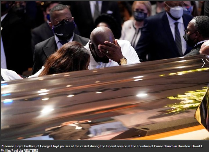Tears As George Floyd Is Buried In Houston, Over 2,000 people In Attendance (Photos) #Arewapublisize