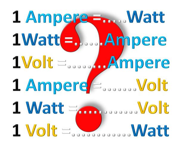Menghitung satuan Ampere, Watt, Volt
