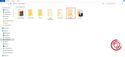 2. Jika sudah di folder Download, silakan klik pada folder SHAREit