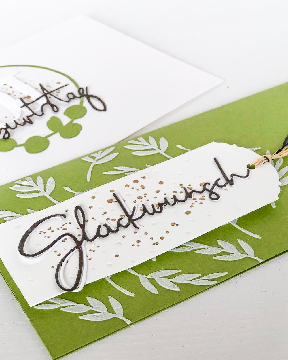 Geburtstagskarte und Umschlag | Renke und WOW! Embossing Powder von Janna Werner
